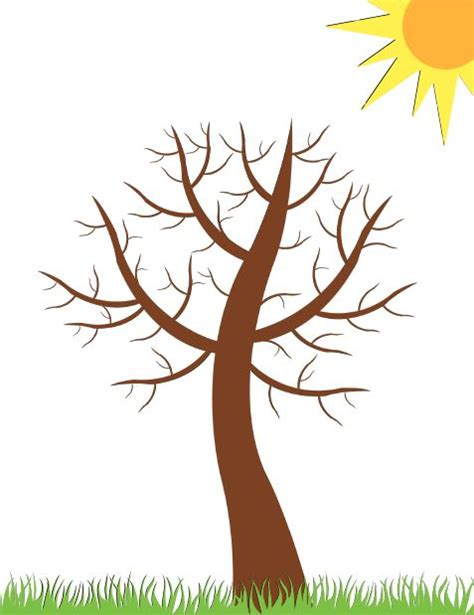 bare tree template pin by christa p on slp crafts or activities children