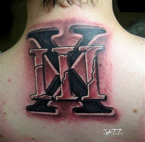 tatto abstrak roman letters 35 abstract neck letters tattoo