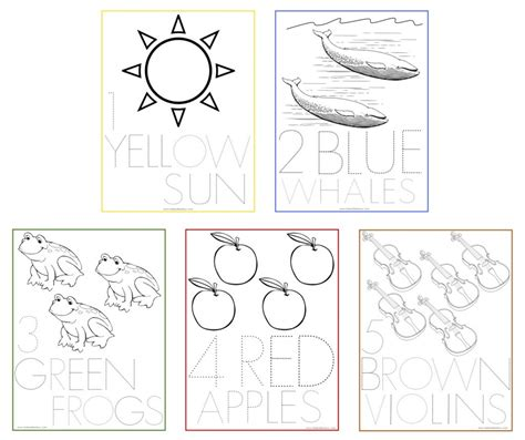 use these number coloring sheets for tracing and coloring