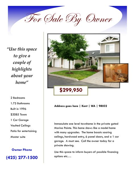 for sale by owner flyer template 28 house for sale flyer template for sale by owner