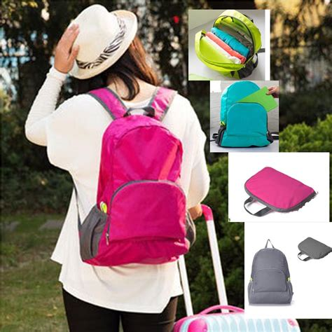 Bagpack Pink Lipat travel folding capacity mountaineering backpack admission package 11street malaysia backpacks