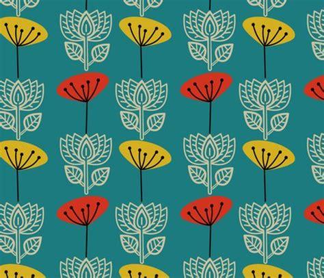 pattern fabric retro retro lotus and seedhead wallpaper joheadington