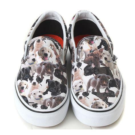 dog pattern vans new vans aspca x vans slip on vn 018dhf2 dogs vans womens