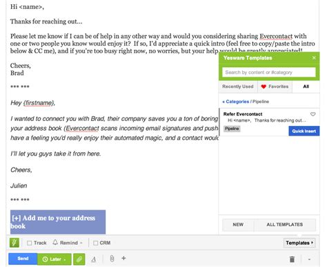 Blog Evercontact Yesware Email Templates