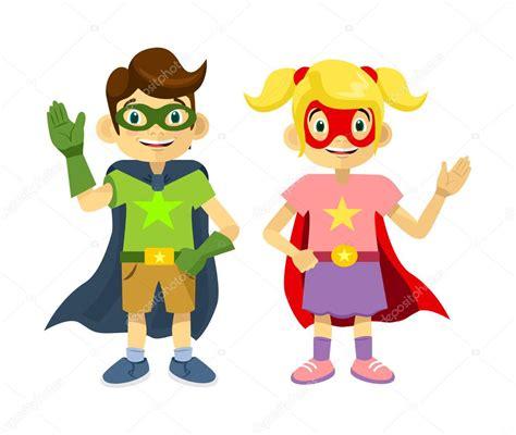 imagenes superheroes vectores superheroes de los ni 241 os ilustraci 243 n plano vectoriales
