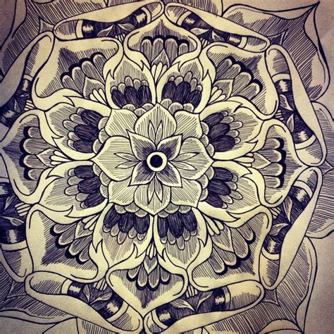 tattoo design mandala mandala tattoo design flower pretty designs pinterest