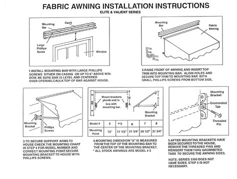 Sunsetter Awning Manual awning installation rainwear