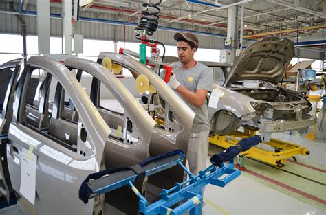 car factory renault builds symbol sedan at car factory in