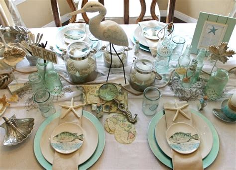 Dining Room Decorating Ideas Pictures elegant beach table idea in a white seafoam amp sand color