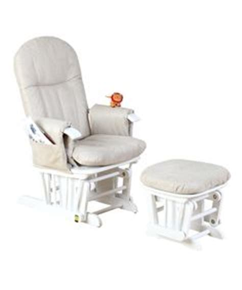 reclined nursing mothercare reclining glider chair white with grey
