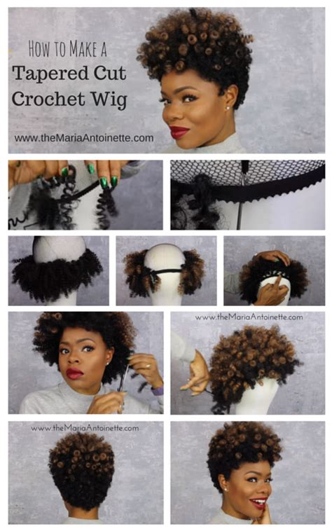 step by step how to cut natural hair into a tapered fohawk how to make a tapered cut crochet wig using curlkalon hair