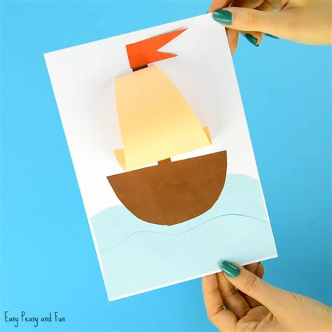Summer Paper Crafts For - simple paper boat craft easy peasy and