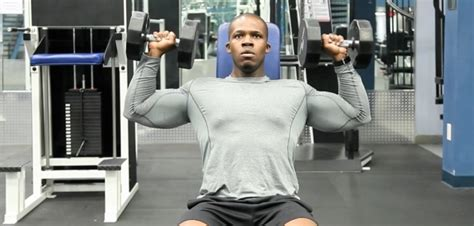 seated dumbbell shoulder press exercise bodybuilding wizard