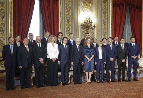 governo consiglio dei ministri tutti i ministri al femminile governo conte
