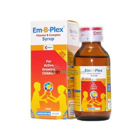 Vitamin San B Plex Em B Plex Vitamin B Complex Syrup 100ml M Medix