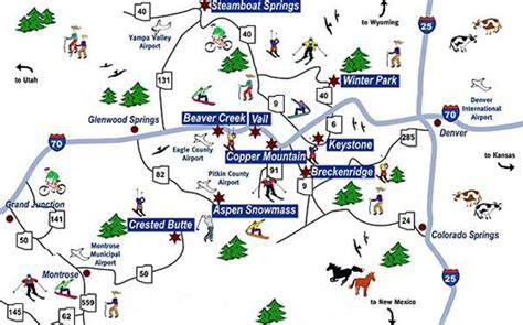 colorado ski resorts map the ski trip 2016 2017