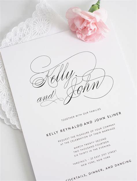 design invitation elegant simple and elegant wedding invitation invitation card