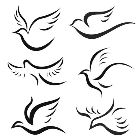 simple bird tattoo designs exquisite dove designs along with their symbolic