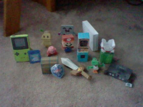 Nintendo Paper Craft - nintendo papercraft bunch by jepale on deviantart