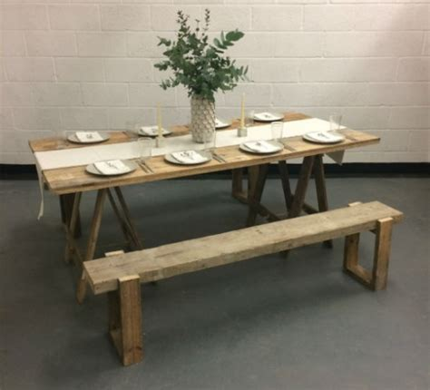 trestle table and bench hire wedding furniture hire london norwich