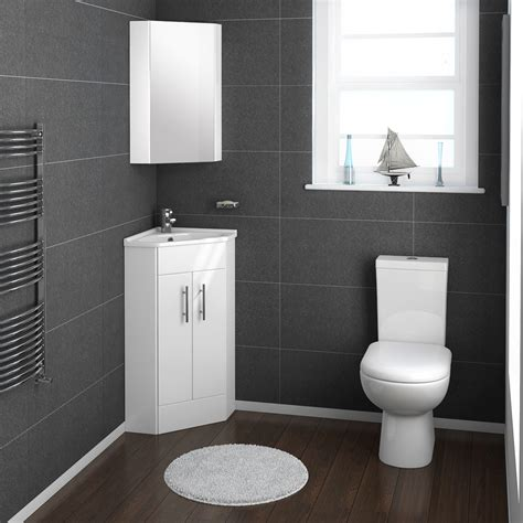 alaska cloakroom suite with corner basin at