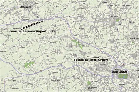 san jose flight map san jose airports