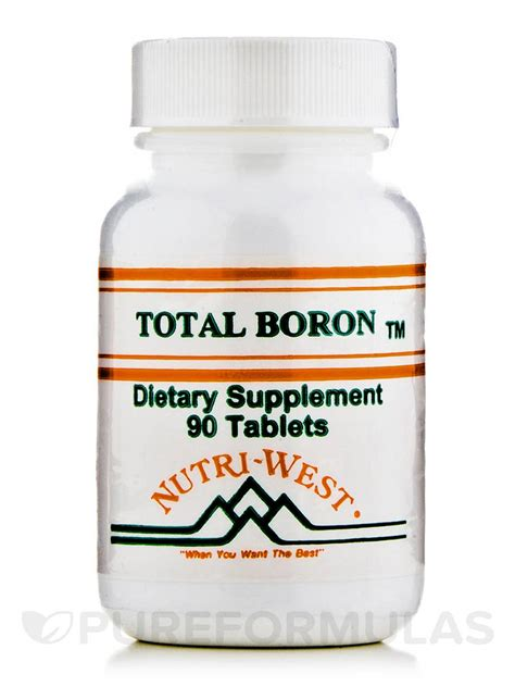 Nutri West Total Systemic Detox by Total Boron 90 Tablets