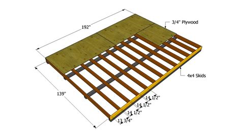 10 By 12 Shed Floor - how to build a 12x16 shed howtospecialist how to build