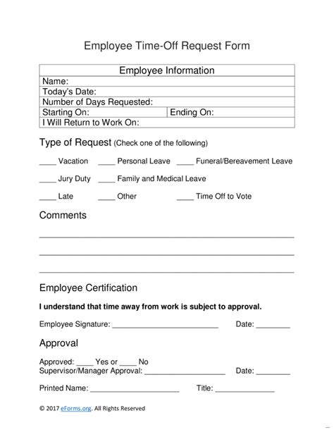 Request For Time Off Form Ultramodern Employee 791 Marevinho Time Request Form Template