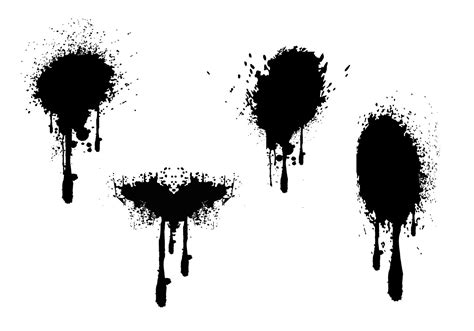 spray paint vector free spray paint drips grunge vectors free vector