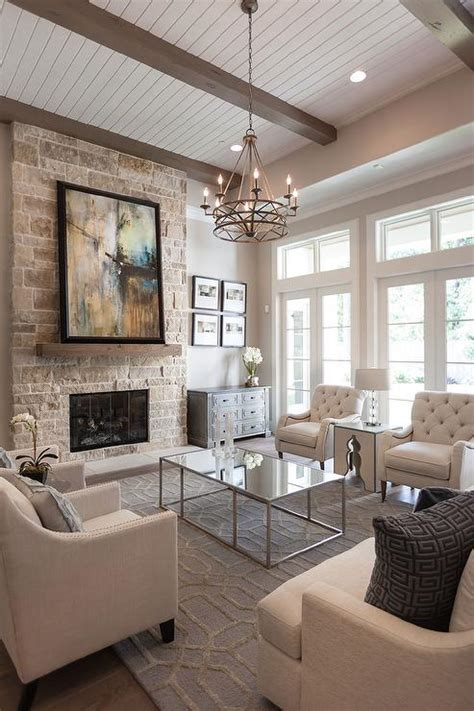 coffee table chandelier transitional living room