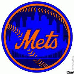 mets colors mets logo free coloring pages