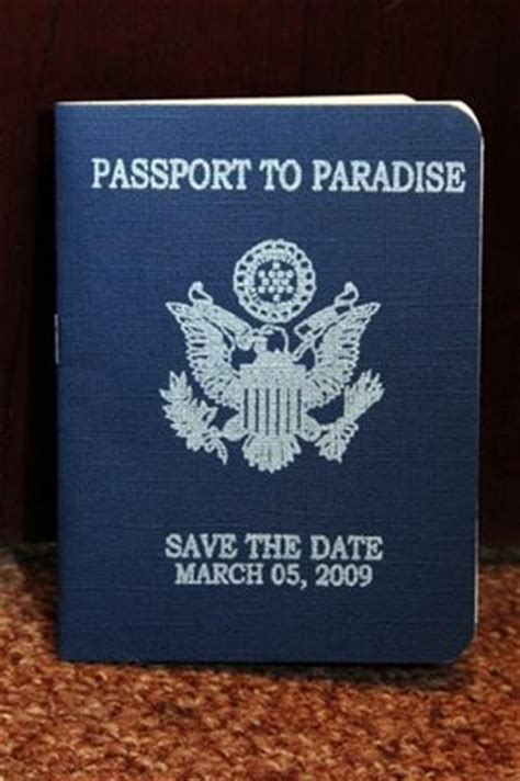 save the date passport template travel themed programs weddingbee