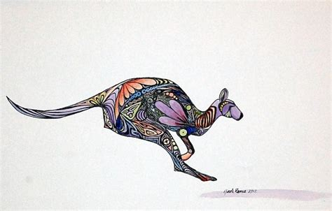 kangaroo tattoo designs 25 amazing kangaroo designs
