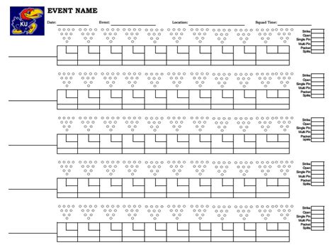 Bowling Spreadsheet by Doc 550712 Bowling Score Sheet Printable Bowling Score