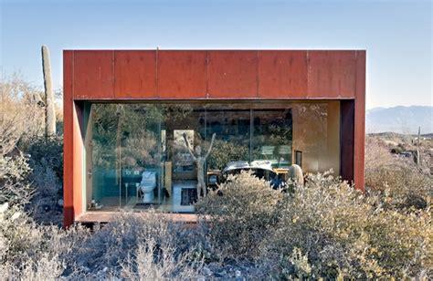 desert nomad house nestled between cactuses the desert nomad house arizona