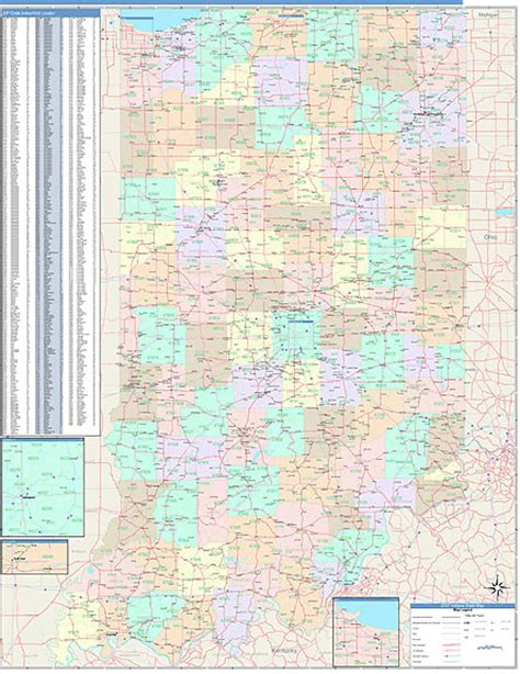 indiana zip code map indiana zip code map