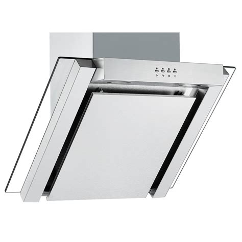 stainless steel bathroom extractor fan cookology ang605ss 60cm angled glass kitchen extractor