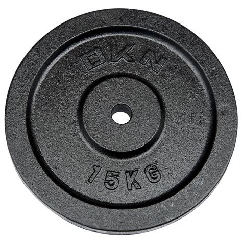 dkn cast iron standard weight plates