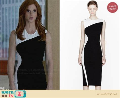 Suits Wardrobe Donna by Wornontv Donna S Black And White Colorblock Dress On