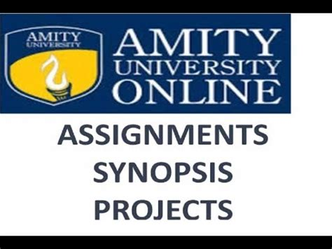 Amity Distance Learning Mba Synopsis by Amity Assignments Addoe Assignment Amity Mba