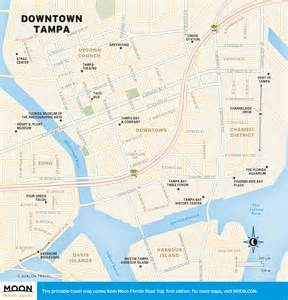 travel map of downtown ta florida