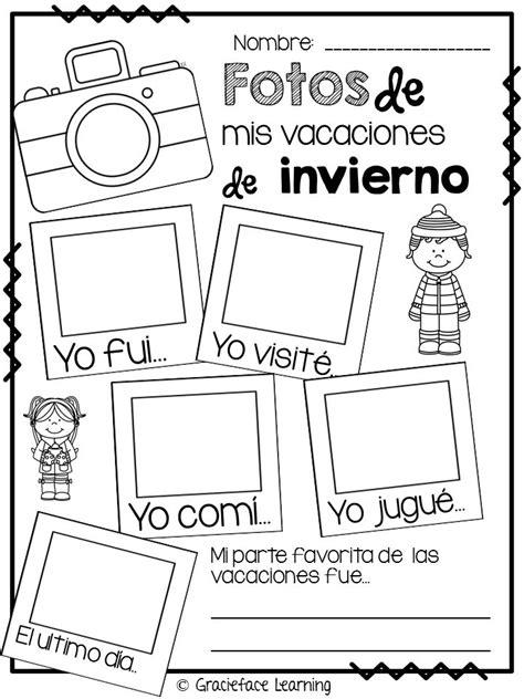 jardn de invierno spanish b073633qll freebie fotos de mis vacaciones de invierno bitty bilinguals ideas jard 237 n