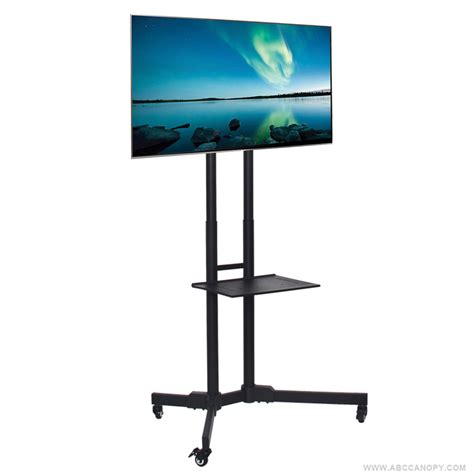 Lcd Tv Shelf by Abccanopy Rolling Tv Trolley Cart Mount For 32 65 Led