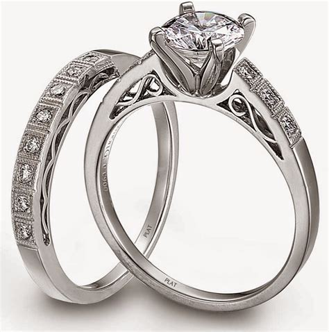 platinum diamond wedding ring sets for him and her model