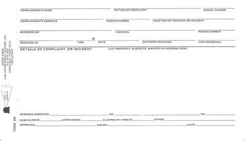 Hcss Complaints Reporting Template Complaint Incident Report Single