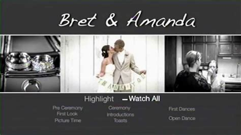 wedding dvd menu templates mini bridal
