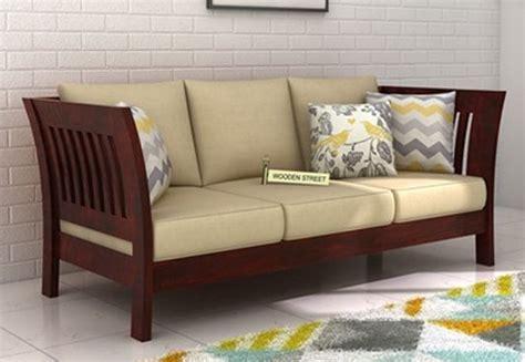 three seater wooden sofa designs 3 seater sofa buy three seater sofa online upto 60 off