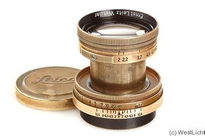 leitz: 50mm (5cm) f2 summitar (sm, gold) lens price guide