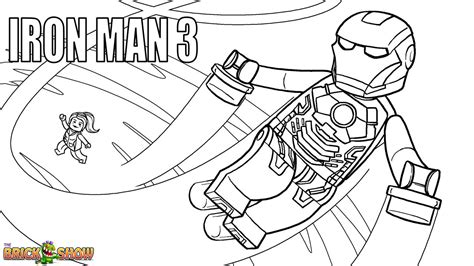 Lego Marvel Coloring Pages lego iron 3 coloring page printable sheet lego marvel heroes